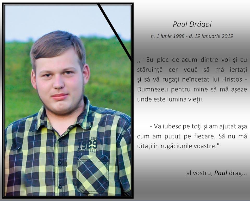 A trecut la Domnul fratele Paul Drăgoi din Bosanci